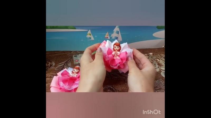бантики с принцессами