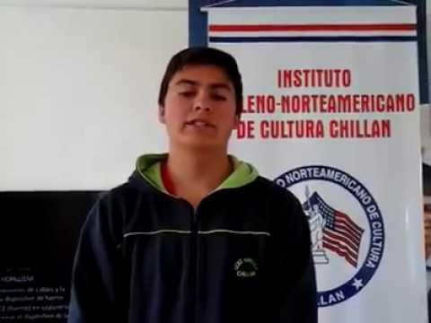 Student3 Access Microscholarship program Instituto Chileno Norteamericano de Cultura Chillán Chile