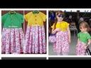 Tehnica raglan pas cu pas Partea 3 Rochiță combinată детская платья комбинированая