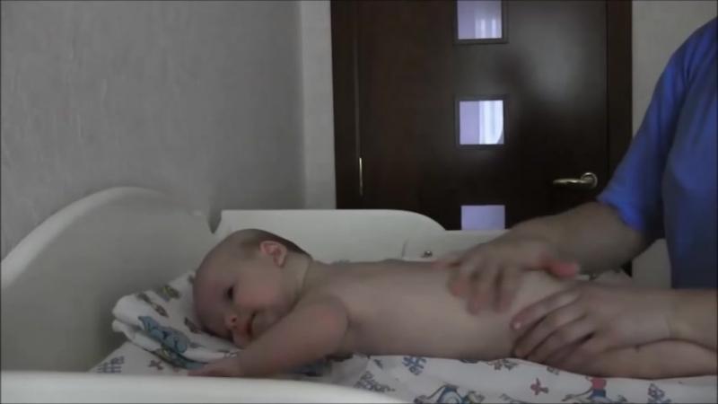 Укрепляющий массаж ребенка 3 месяца.