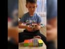 Кубик рубик собрал сын