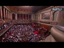 Emmanuel Macron s'adresse aux députés lors du deuxième congrès de Versailles 9.07.2018
