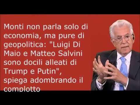 Mario Monti: Italia fa saltare l'Eurozona, Di Maio e Salvini amici di Trump e Putin