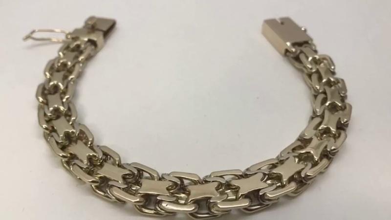 Как сделать золотой браслет «2-й Московский Бит».How to make a gold bracelet