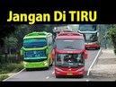 Индонезия_опасное вождение автобусов_10 Kegilaan Supir BUS di Jalan umum (heheh)