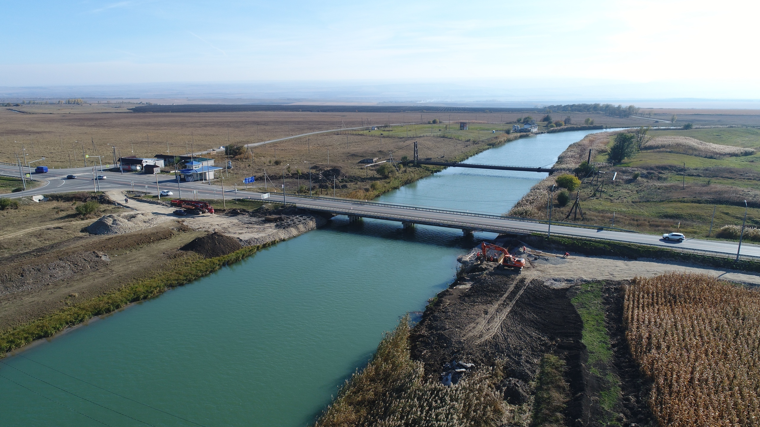 В КЧР началось строительство нового моста через Большой Ставропольский канал