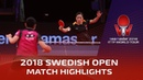 Liu Shiwen vs Mima Ito 2018 ITTF Swedish Open Highlights 1 4
