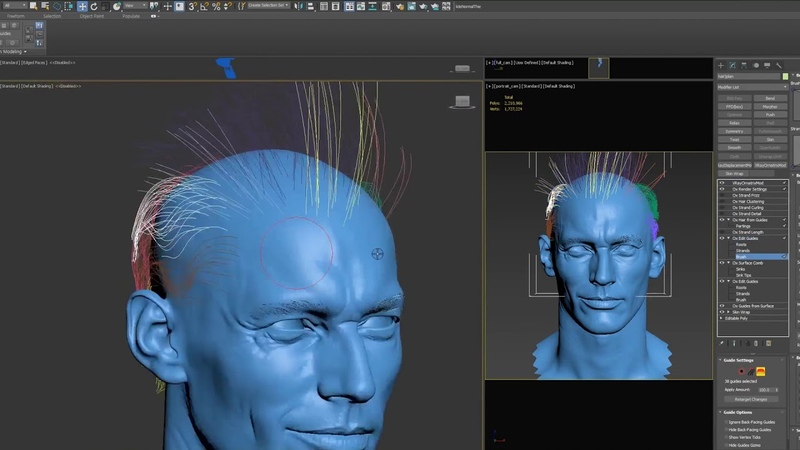 4.Making David Gandy Likeness_Hair Guide timelapse