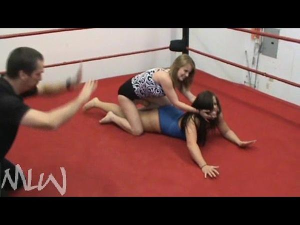 MLW Womens indy wrestling Tayrn Shade vs Little bit barefoot match