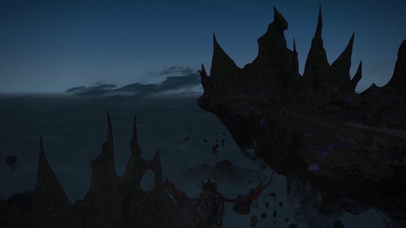 FFXIV OST Skylords Churning Mist Night theme