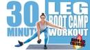 30 Minute Leg Boot Camp Workout 🔥Burn 475 Calories! 🔥
