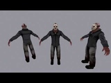 Jason Voorhees modeling and texturing time-lapse part 1
