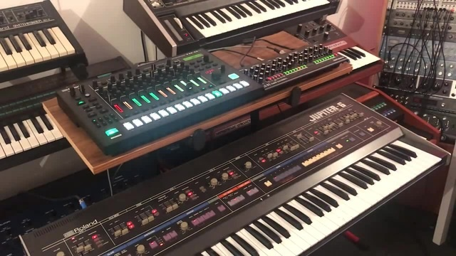 It's nice when new and old friends get along.  Roland TR-8S, SE-02, Jupite...