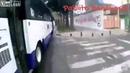 карма - зря он подрезал велосипедиста. Мехико / Bus driver cuts off bicyclist. Regrets instantly. [shitty music warning]