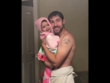 Cutest Dad and baby singing Girls like you - Cutest video on the internet!!