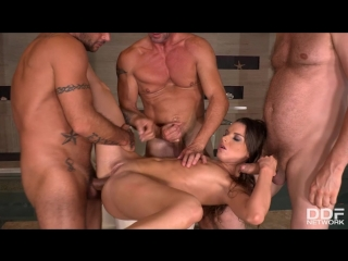 Anita Bellini [DP, Anal Sex, Group sex, Anal gape, Deep throat, Handjob, Light skin, Natural tits, Pussy gape, Shaved Pussy]