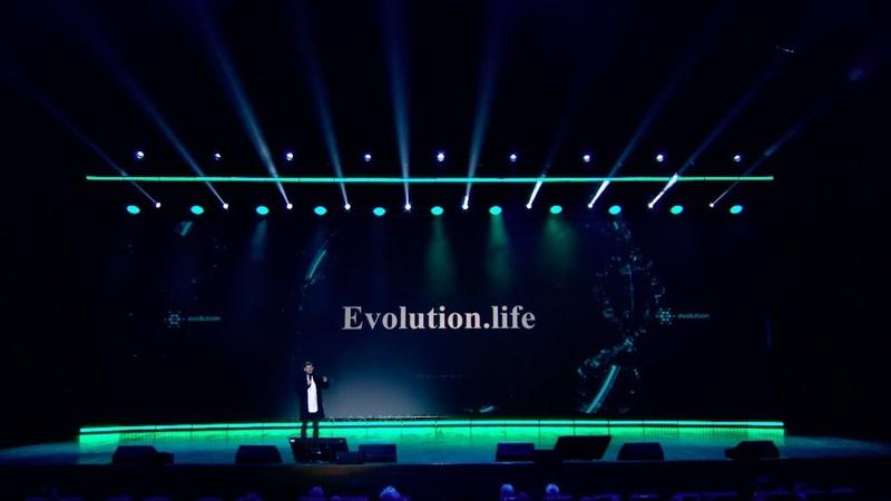 Евгений Гаврилин презентует Evolution.life на Synergy Insight Forum