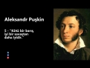 Aleksandr Puşkin - Tarihe Damga Vuran 10 Sözü