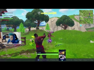 Travis Scott's kill on Fortnite with Ninja, JuJu and Drake