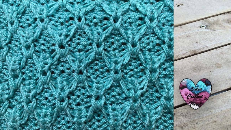 Point relief tricot facile Lidia Crochet Tricot