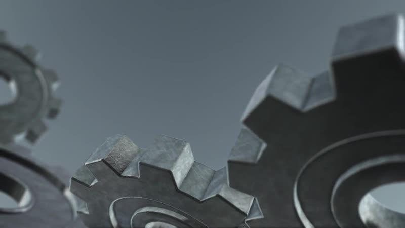 Вращение металлических шестерней Metal Gears Spinning