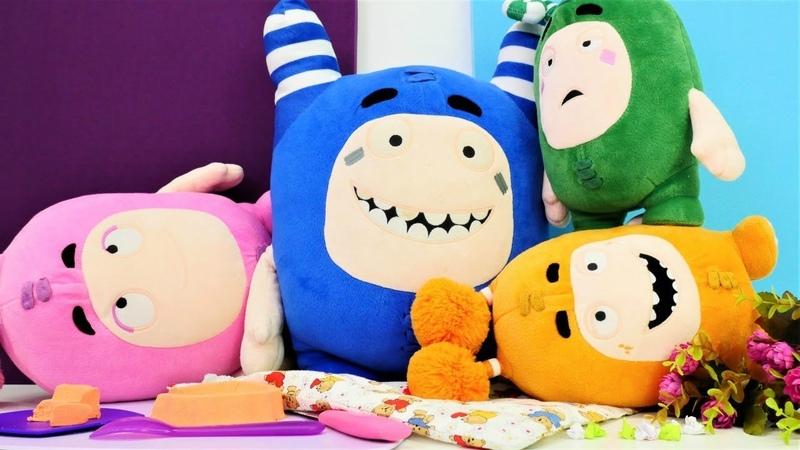 Oddbods oyuncakları ile bebek videosu. Pogo şaka yapıyor.