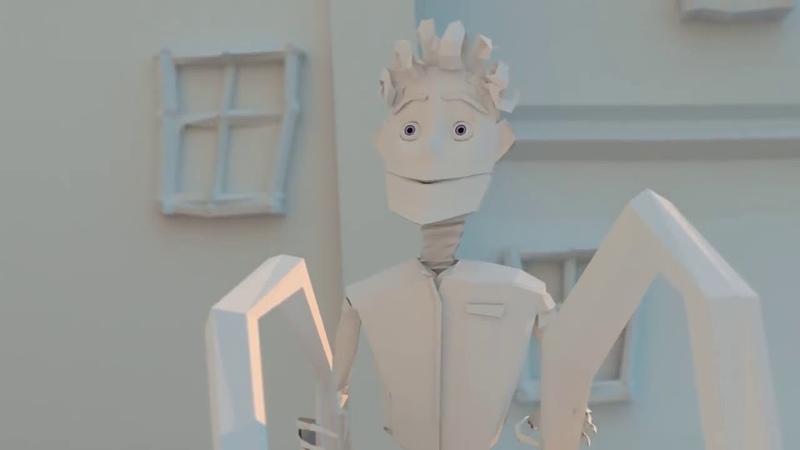 ИСТОРИЯ ЛЮБВИ БУМАЖНЫХ ГЕРОЕВ анимационный HD мультфильм от Daniel Houghton