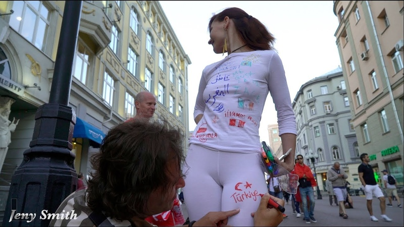 FIFA World Cup Fan Signs On Her White Clothes!