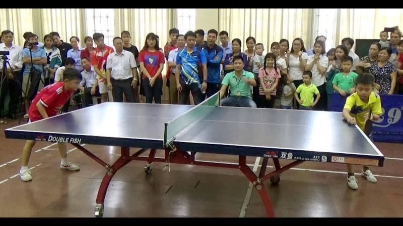 Chung kết môn bóng bàn nam cấp tiểu học tỉnh Nam Định 2019 PGD Ý Yên PGD Hải Hậu