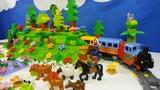 Строим из Lego Duplo, Build and Play toys Lego, Лего Дупло - railway tunnel (железная дорога)