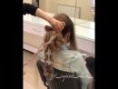 Текстурный пучок на длинные густые волосы