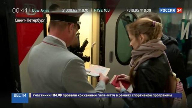 Новости на Россия 24 Один из поездов Северная Пальмира оформили в экологическом стиле
