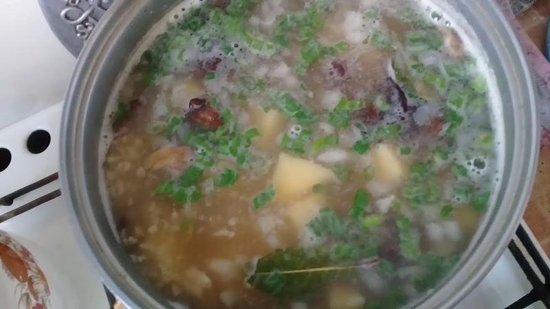 Ну, Очень вкусный - Грибной Суп! Сушеные грибное Ассорти.Суп из сушеных грибов.