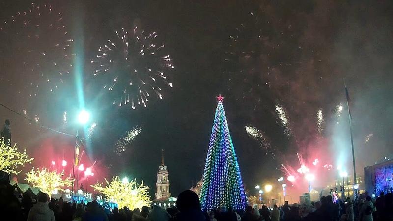 Праздничный фейерверк в Туле, ставшей новогодней столицей
