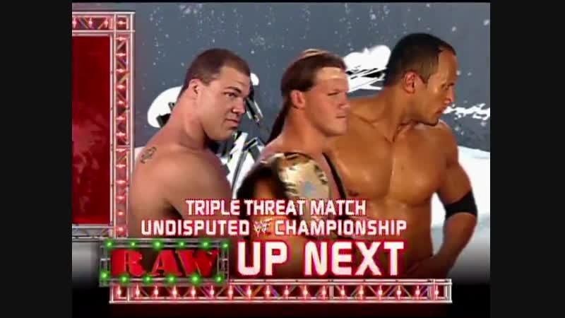 Chris Jericho Vs Kurt Angle Vs The Rock - WWF Undisputed Championship - No DQ Triple Threat Match - RAW 24.12.2001