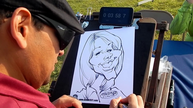 Live Caricature Drawings From Adam Belmares