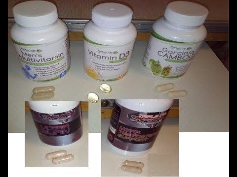 Triple CS Supplements Men's Testosterone Support Multivitamin D3 Garcinia Cambogia
