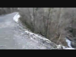 БТР с челябинцем упал в обрыв в Абхазии
