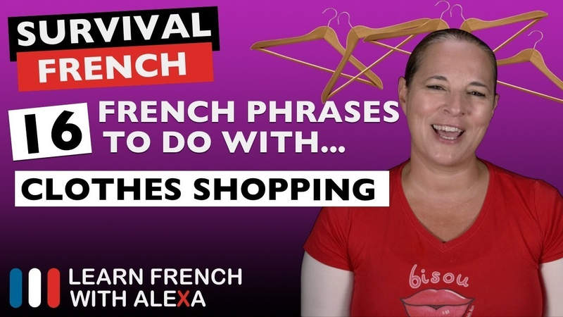 16 French phrases to use in a CLOTHES SHOP