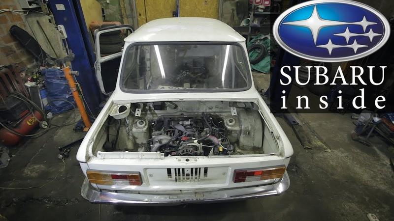 Мотор от SUBARU в ЗАЗ 968М SUBAрожец