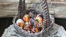 Корзинка для пасхальных яиц. Плетение из газетных трубочек