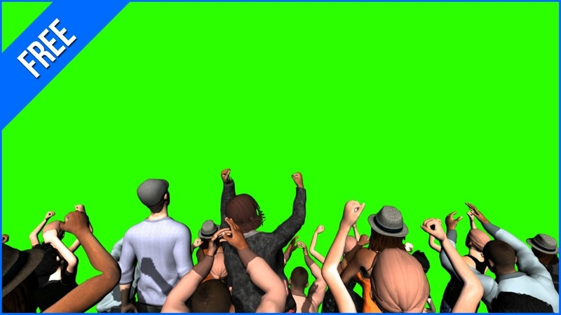 Pessoas Comemorando 2 - Crowd Cheering 2 Green Screen - Chroma Key