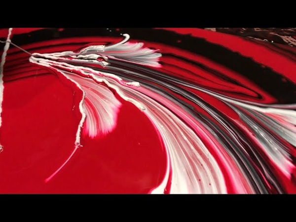 Fluid Painting Acrylic STRING SWIPE Wigglz Art Amazing Results Please Share Recipe in description