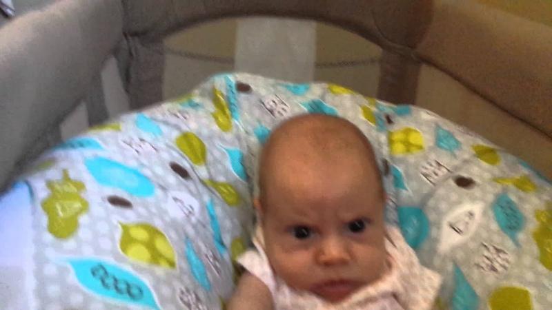 Grumpy Baby Watching TV