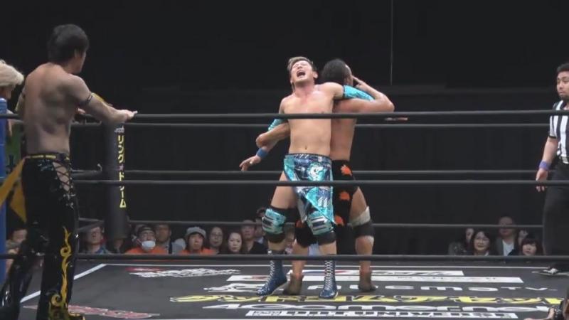 HARASHIMA, Makoto Oishi and TOMOYA vs. KUDO, Yukio Sakaguchi, Masahiro Takanashi (DDT - Road to Ryogoku 2018 ~ Dramatic Dream To