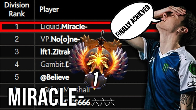 Miracle- finally achieved TOP 1, stolen again by No[o]ne-, now back to his Road to TOP 1 MMR Europe