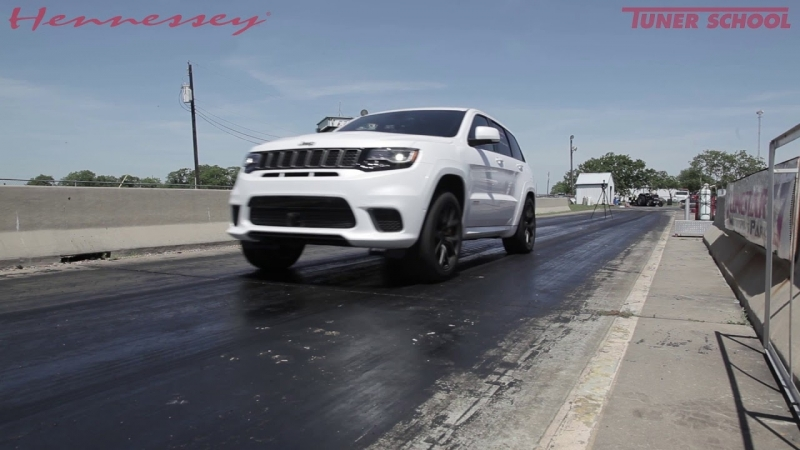 1000 HP Hennessey Jeep Trackhawk 0-60 mph: 2.7 sec.