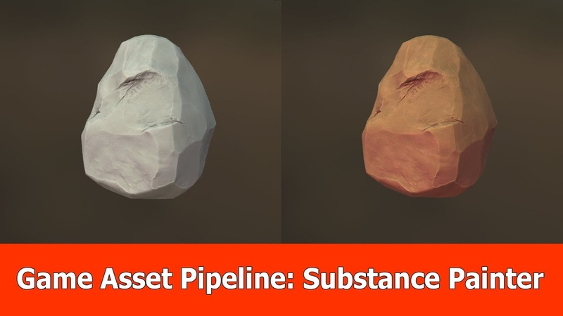 Game Asset Pipeline Substance Painter Texturing