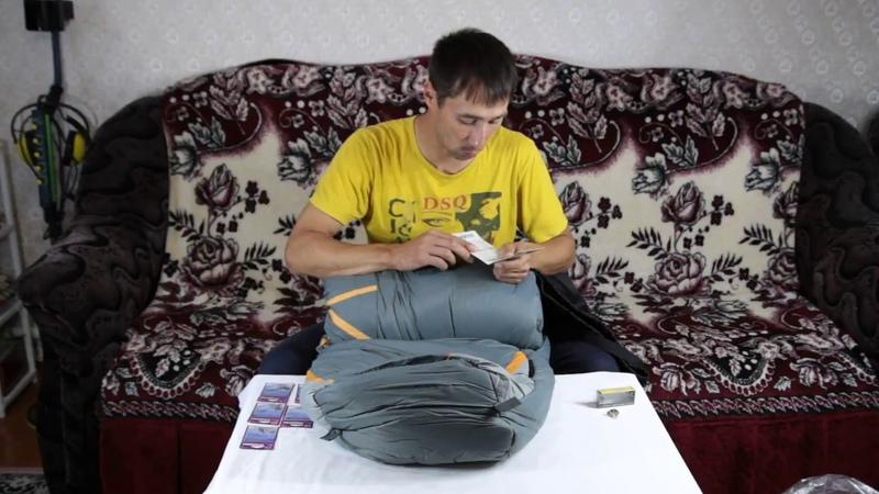 Распаковка посылки со спальным мешком, воблером и карабинами по заказу Fmagazin/