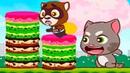 ГОВОРЯЩИЙ ТОМ минимульты ВКУСНАЯ БАШНЯ Тома 2 ДРУЗЬЯ! Игровой мультик Talking Tom Cake Jump